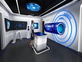 5G技术展厅3D模型