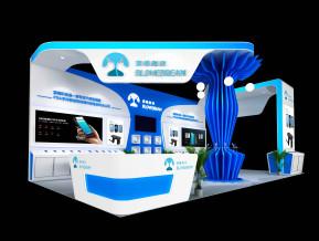藍暢科技展臺模型