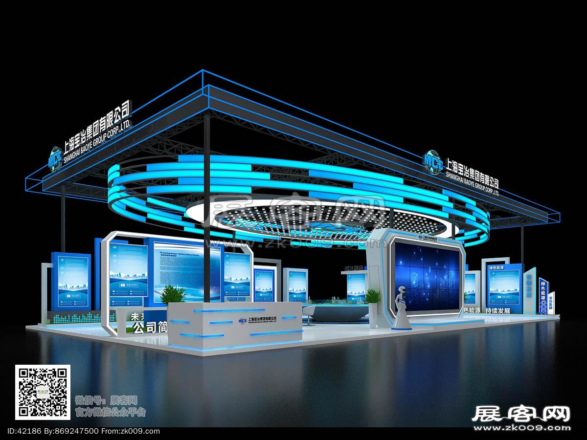上海宝冶展览模型