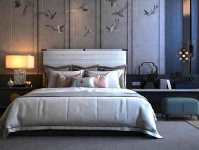 新中式双人床床头柜