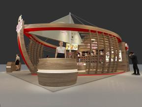 火船咖啡展览模型