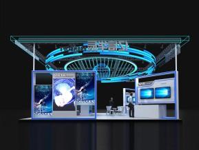 亿信华辰120平方展览模型