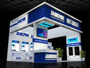 迪马科技展台模型