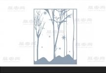 3D樹 雪花