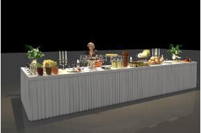 舞台冷餐区