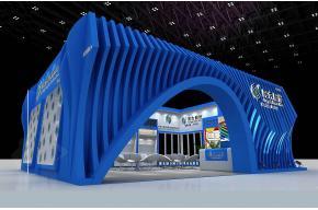 山东同大展台3D模型图片