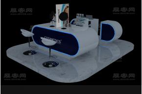 化妝品專柜3D模型