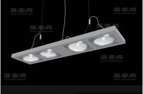 现代风格吊灯3d模模型
