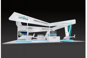 隆华直升机展览模型