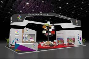 Company电子科技展览展示展台模型