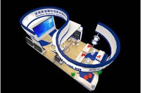 洲明安防展台模型