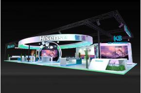 Hisense海信通信通訊展展臺模型