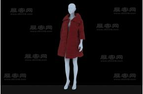 羽絨服模物3D模型