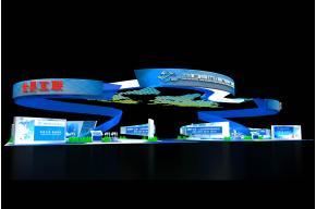 互聯網+工業博覽會展臺3D模型