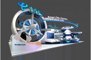 中國電信展臺3D模型