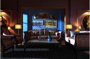 歐式沙發3D模型