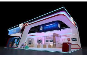京东广州移动互联网展览展示展台模型