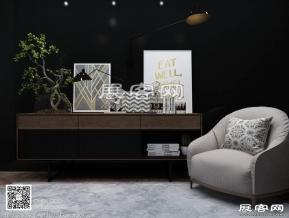 现代柜子3D模型免费下载