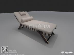休闲户外椅3D模型