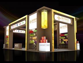 瑞邦中式食品展台模型