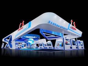 广东政府科技展台3D模型