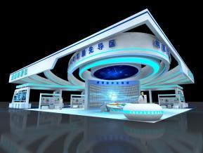 成都經濟區科博會展臺3D模型