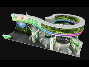 巴中云頂茶博會展臺3D模型
