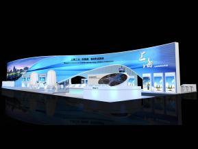 上海展台模型图片