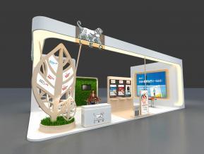 LEO品牌展展臺3D模型